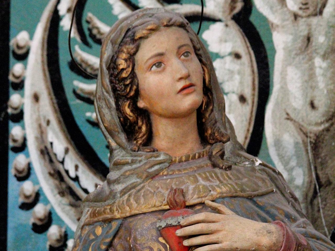 Mergelės Marijos skupltūra