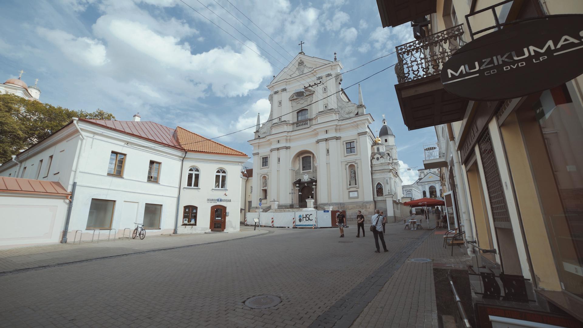 Bažnyčios bokštas.