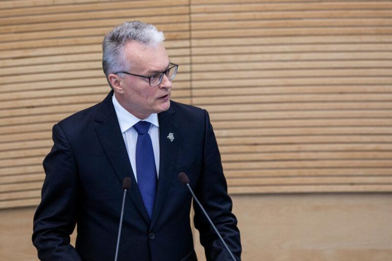 Prezidentas Gitanas Nausėda skaito metinį pranešimą