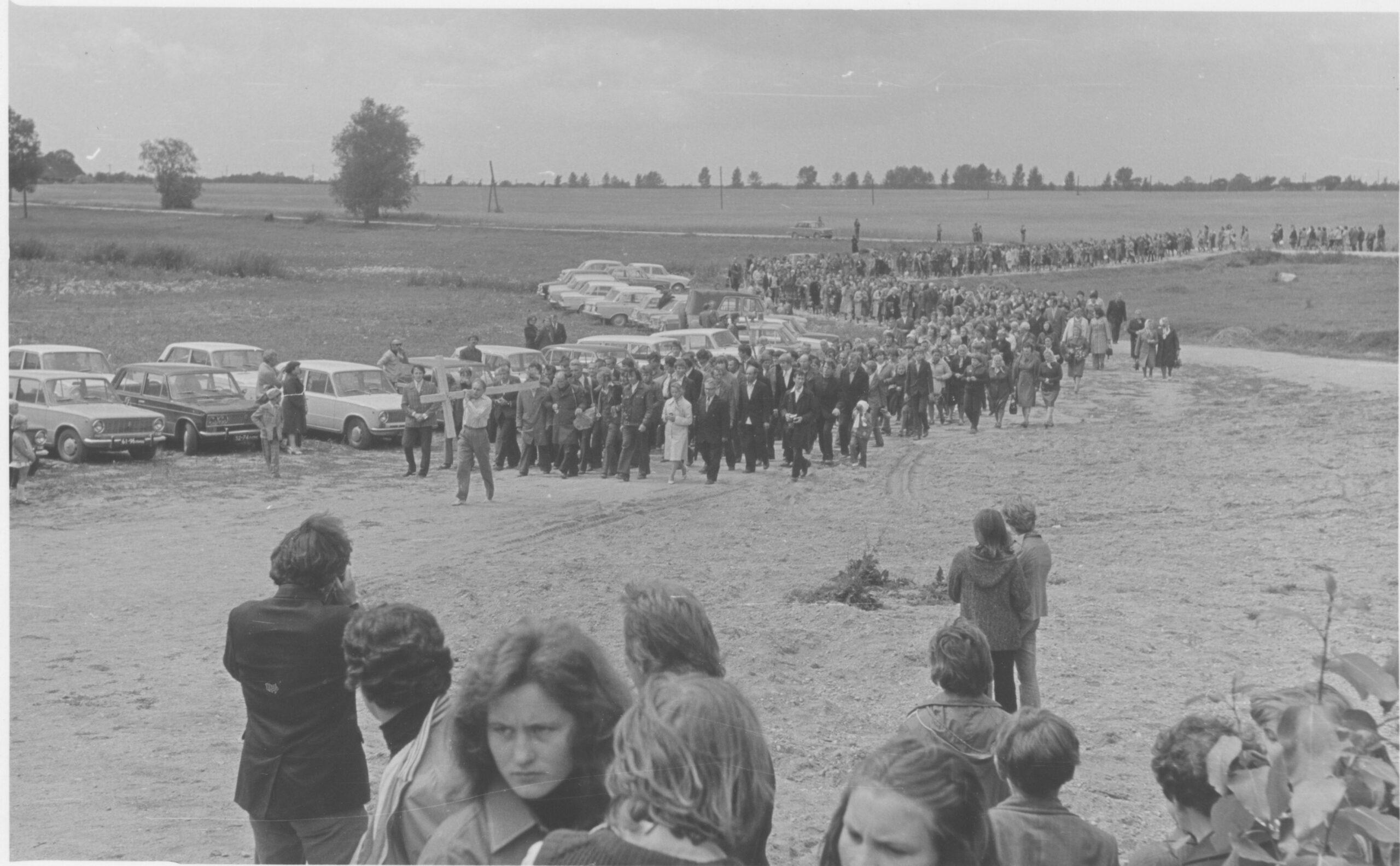 Religinė procesija į Kryžių kalną 1979 m.