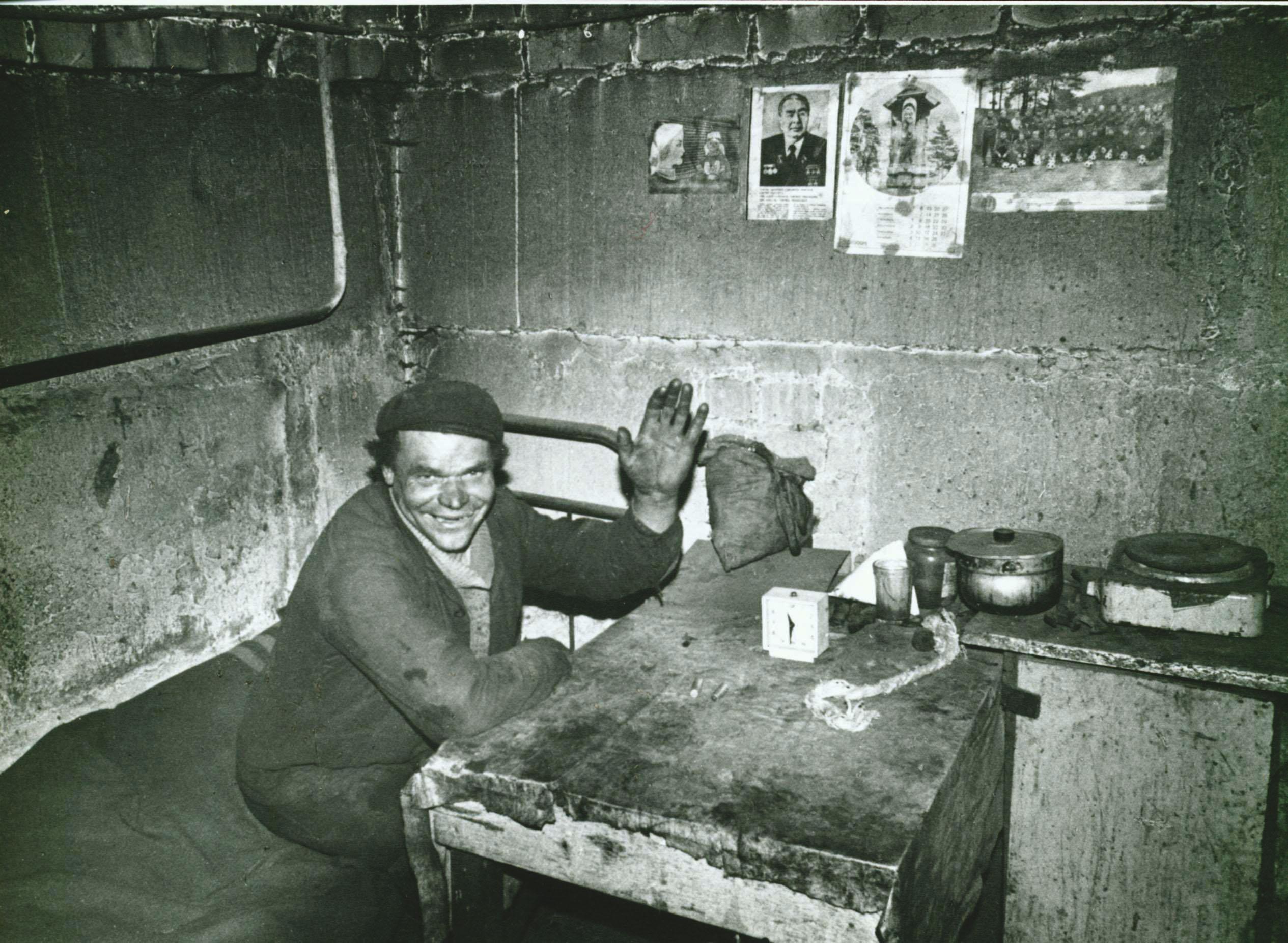 Žmogus sovietmečio skurde.