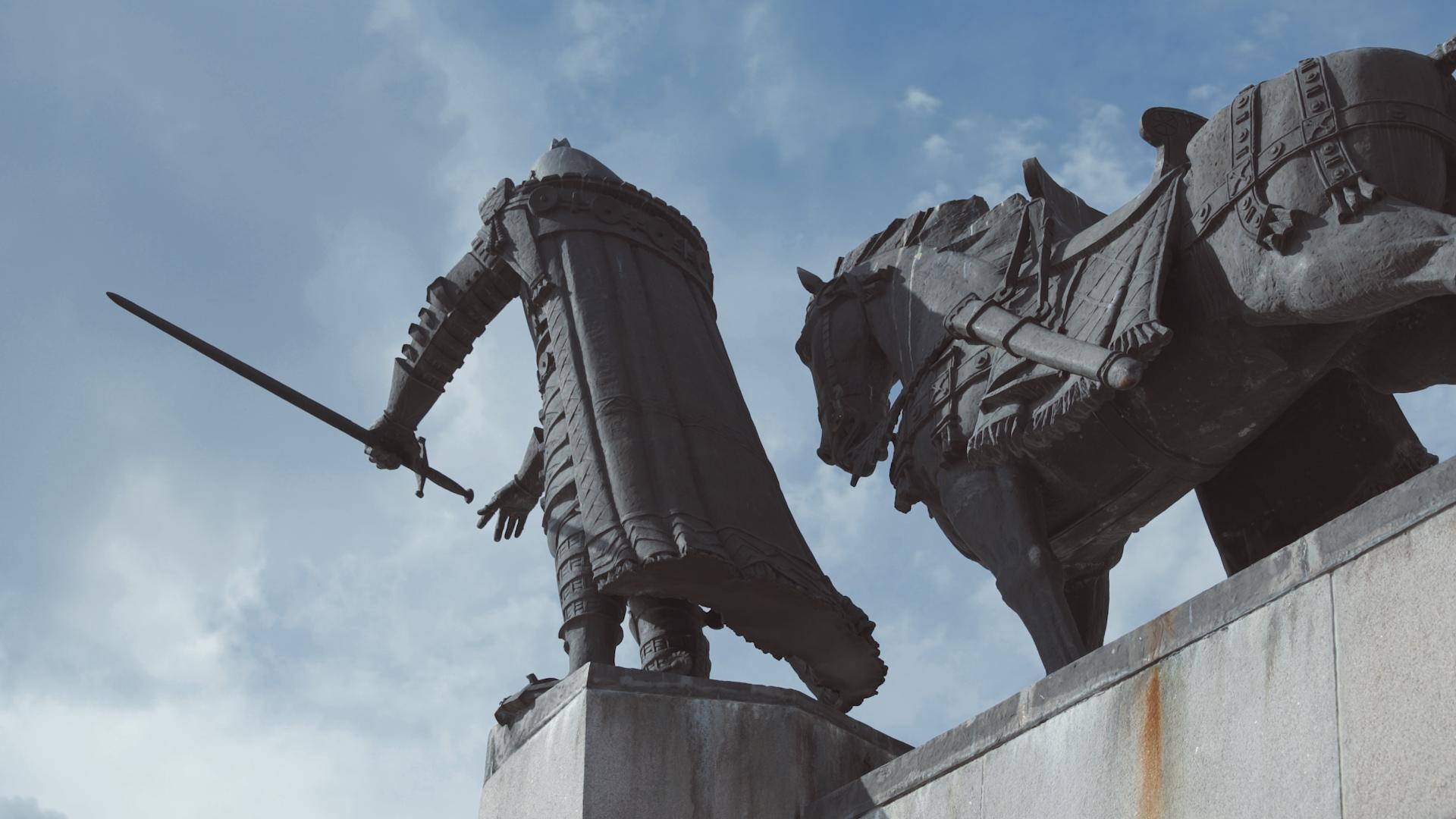 Gediminas su arkliu.