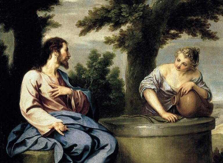 Jėzus Kristus prie šulinio su samariete.