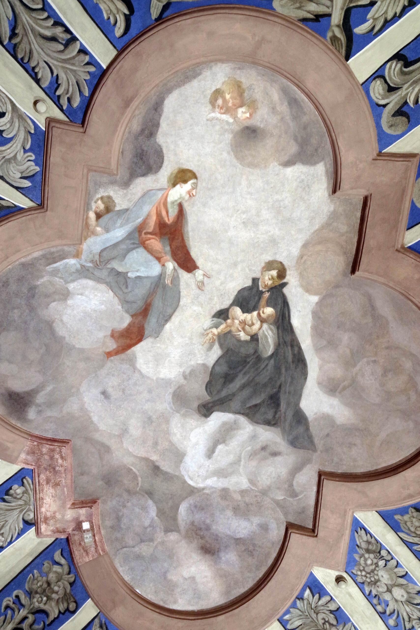 Freska su šventuoju.