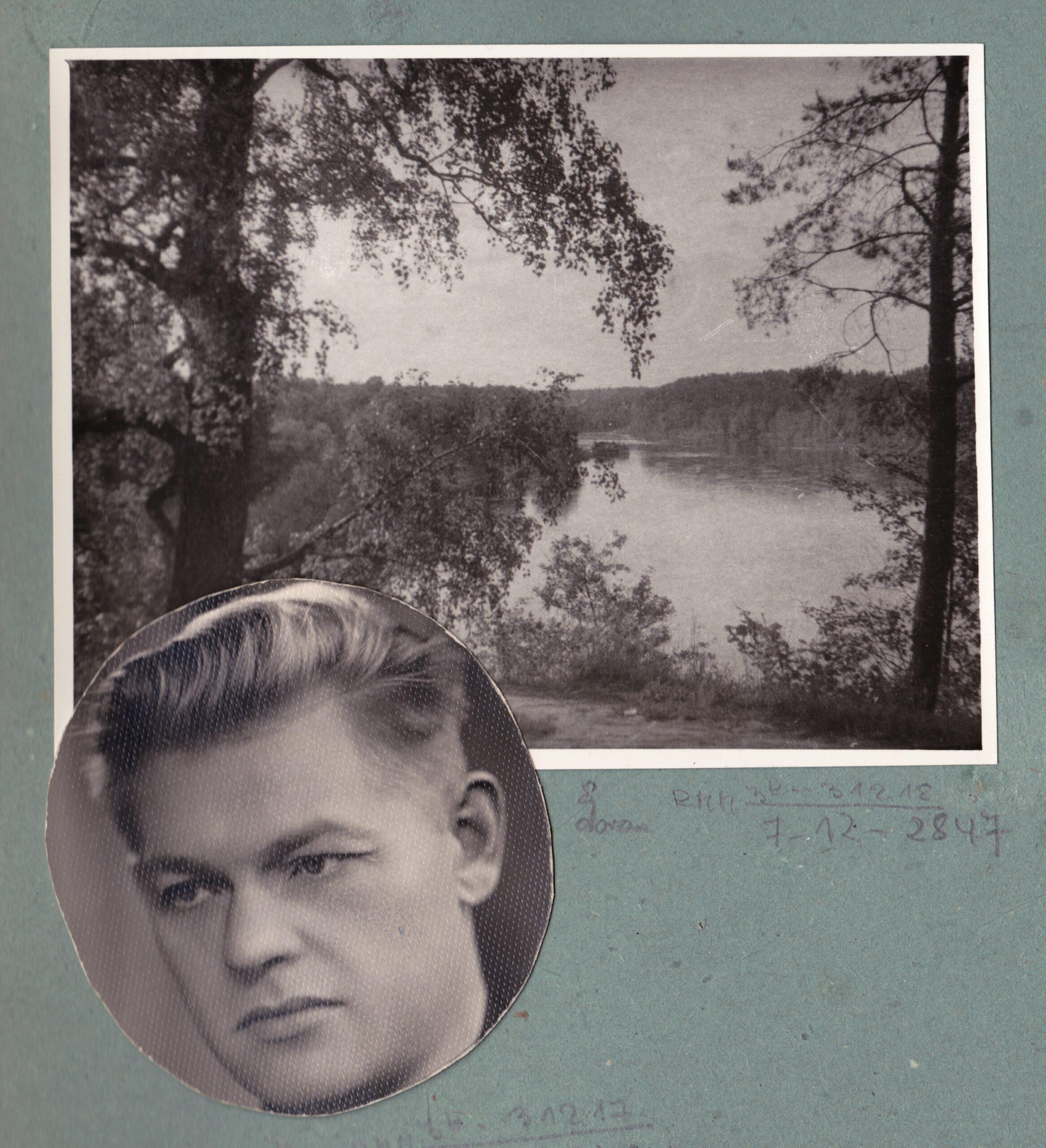 Pauliaus Širvio portretas ir Sartų ežeras.