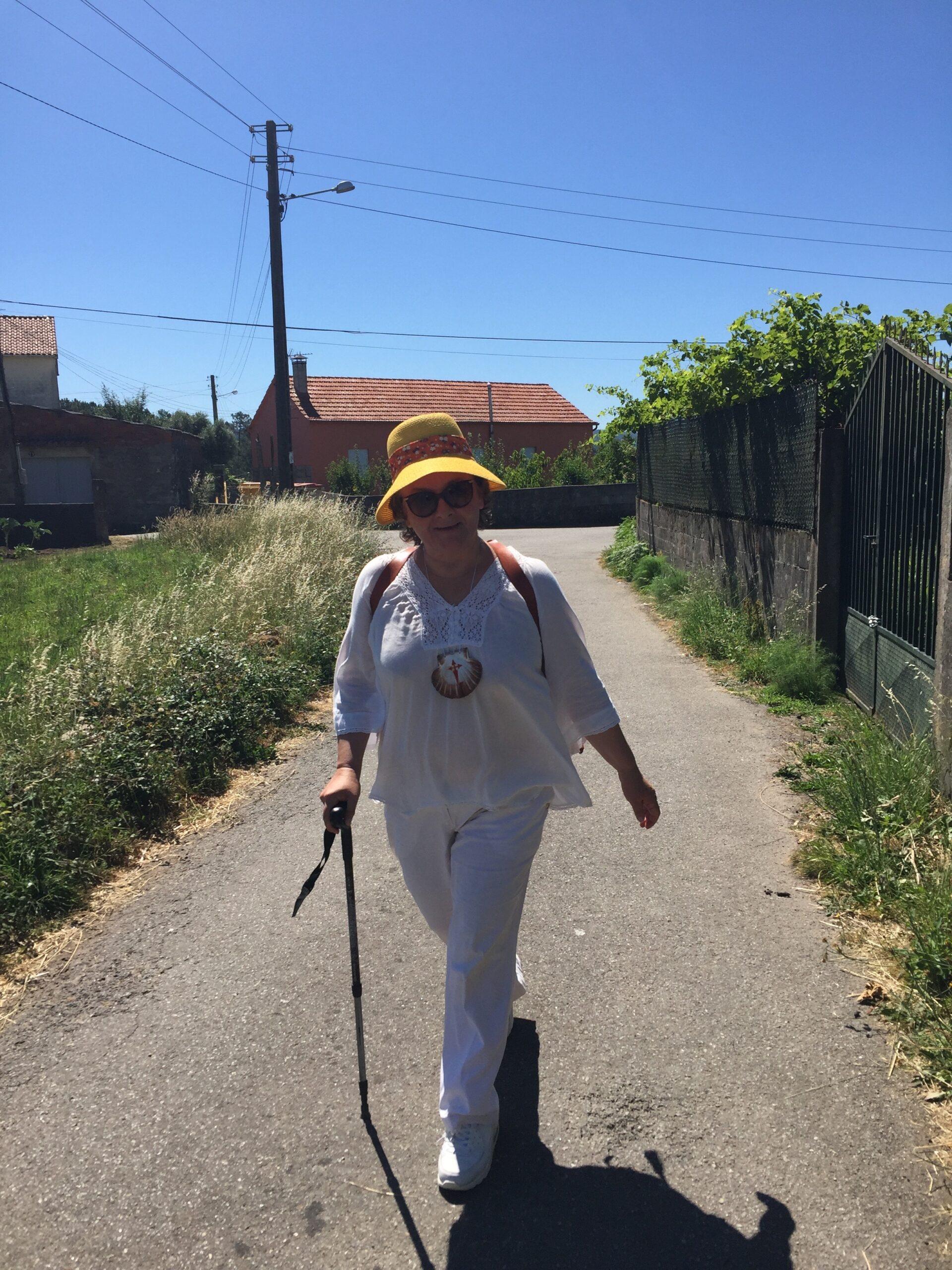 Piligrimė Laima Andrikienė Šv. Jokūbo kelyje