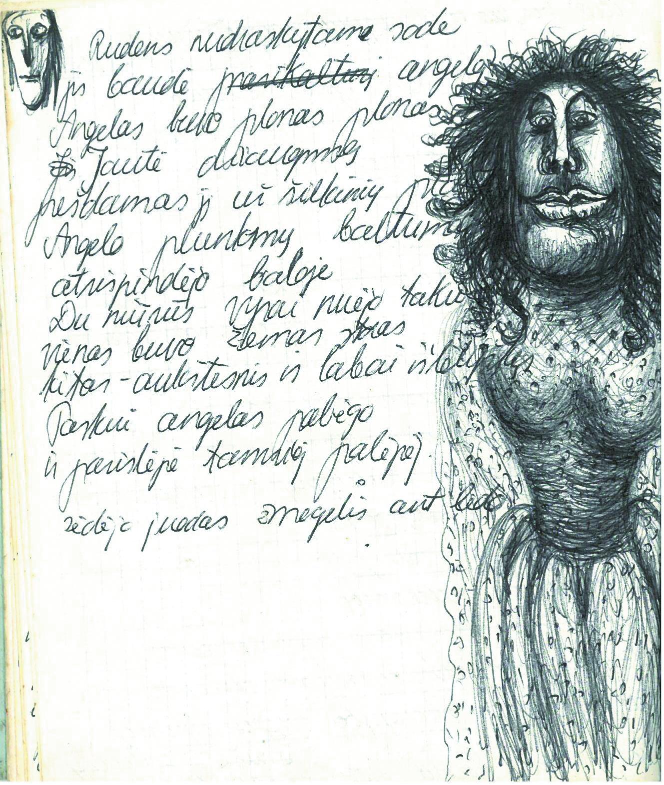 Eilėraštis ir piešinys.