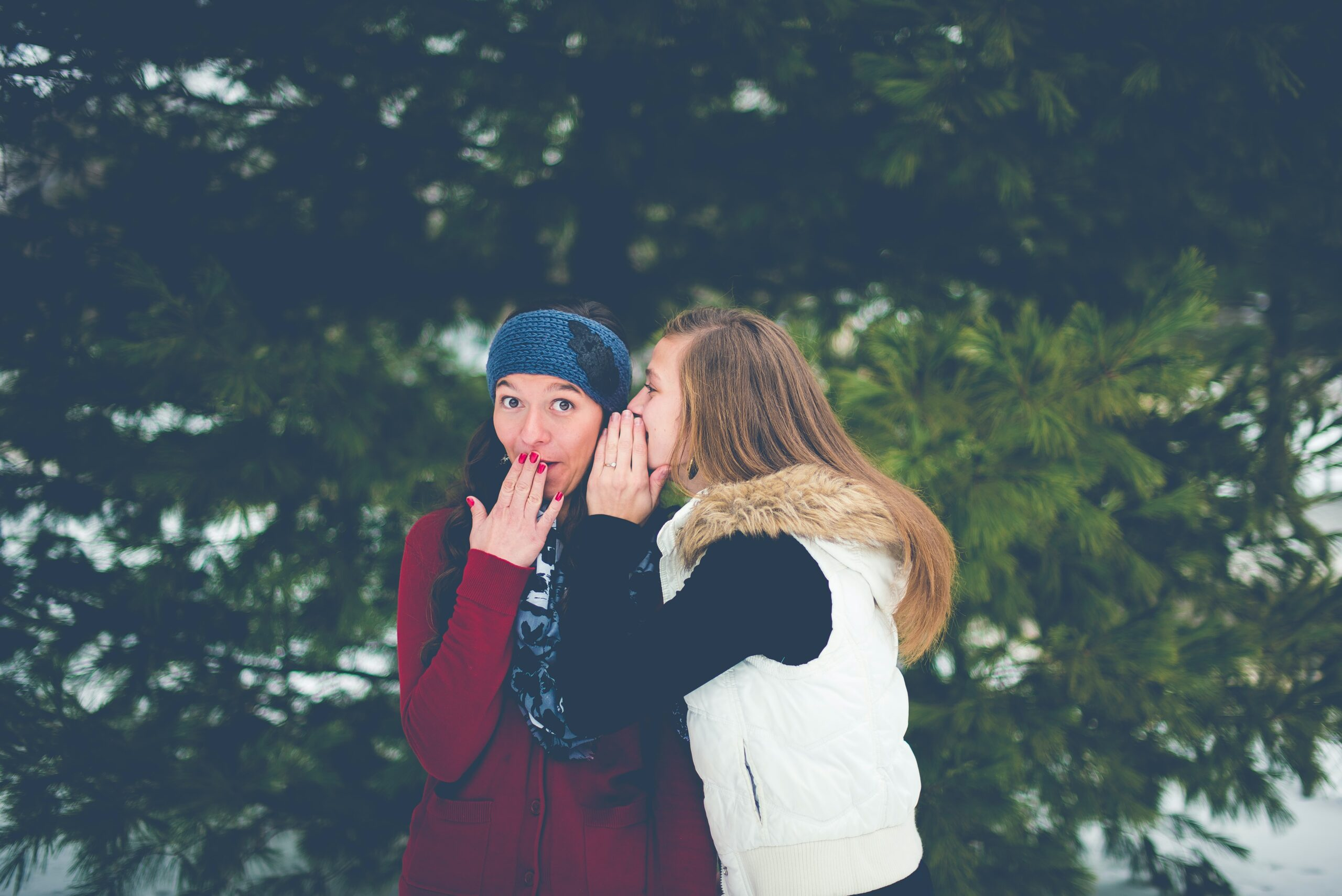 Dvi moterys apkalbinėja