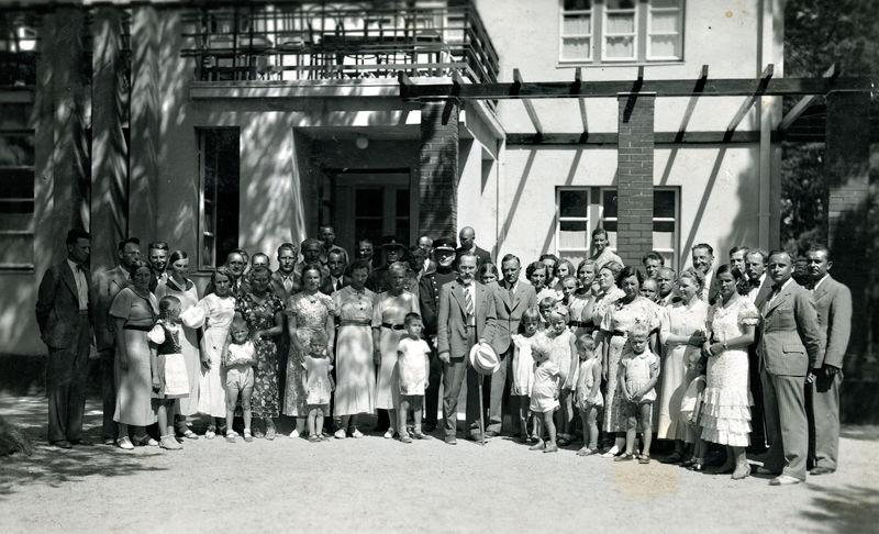 Prezidentas Antanas Smetona su palyda Palangoje.