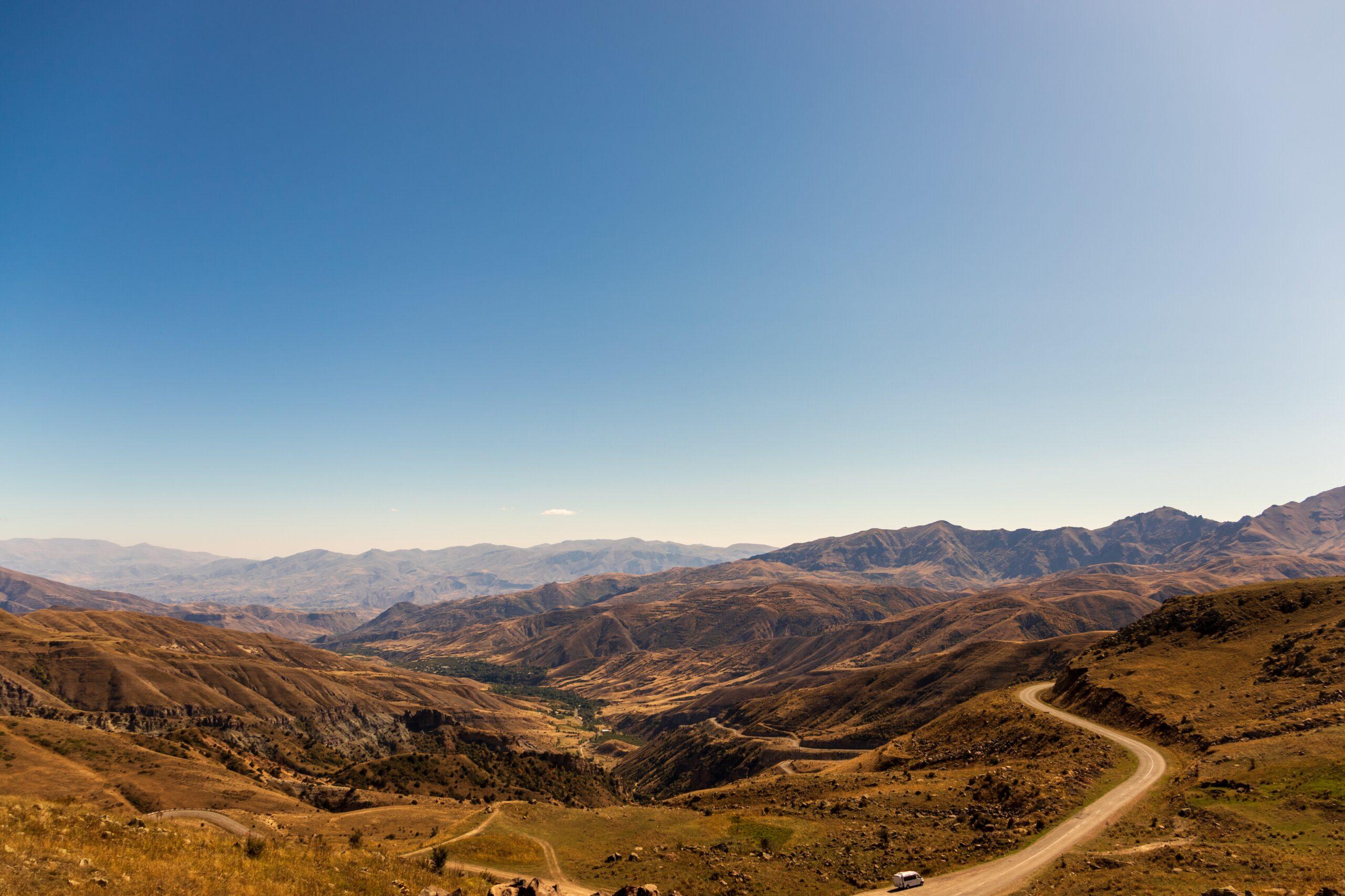 Kalnų panorama.